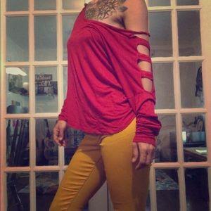 Zenana Oversized Red Shirt- Size M